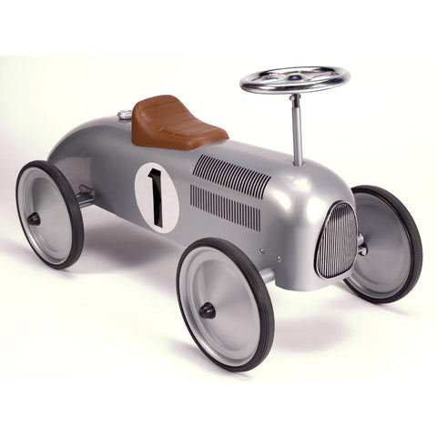 Schylling Metal Speedster Silver Race Car
