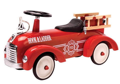 Schylling Metal Speedster Red Fire Truck
