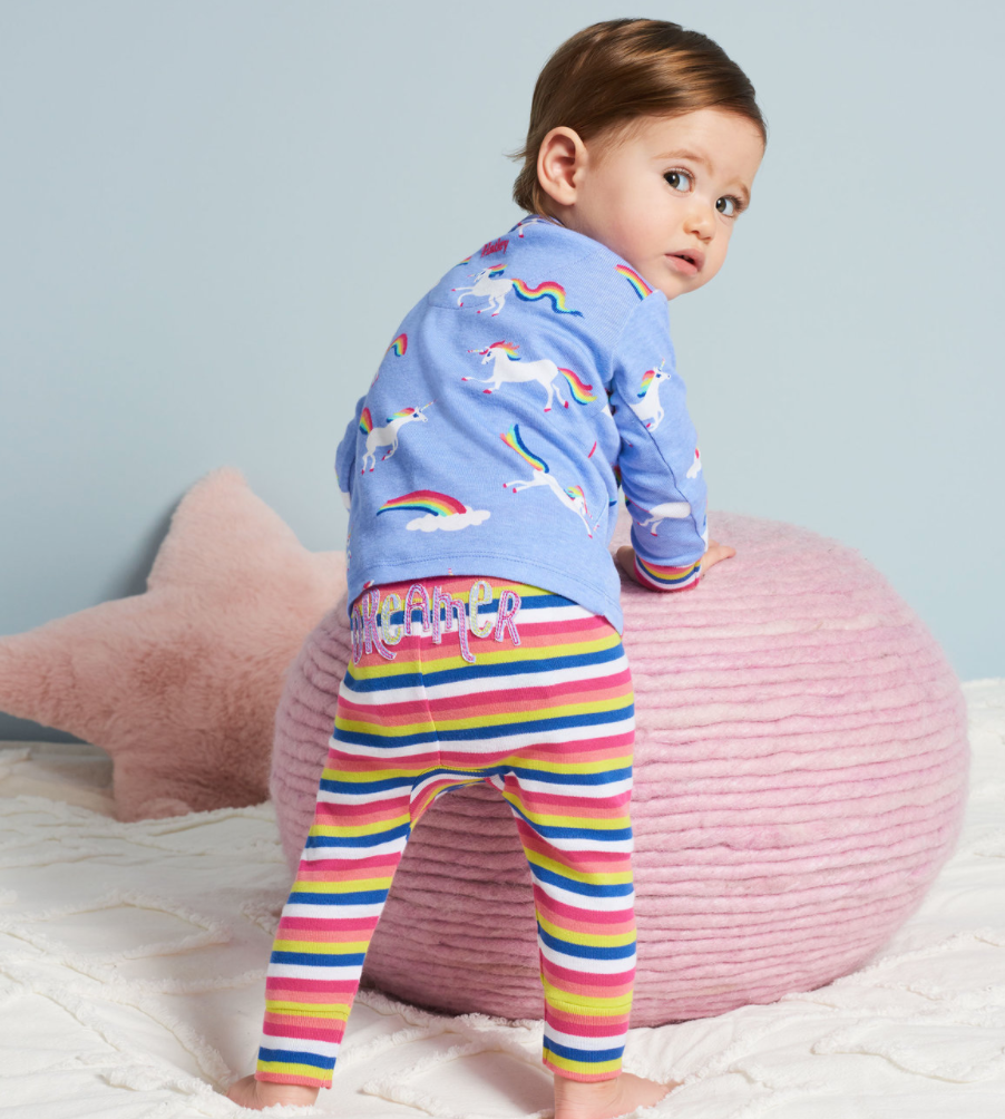 Hatley F/W20 Rainbow Unicorn Organic Cotton Baby Pajama Set