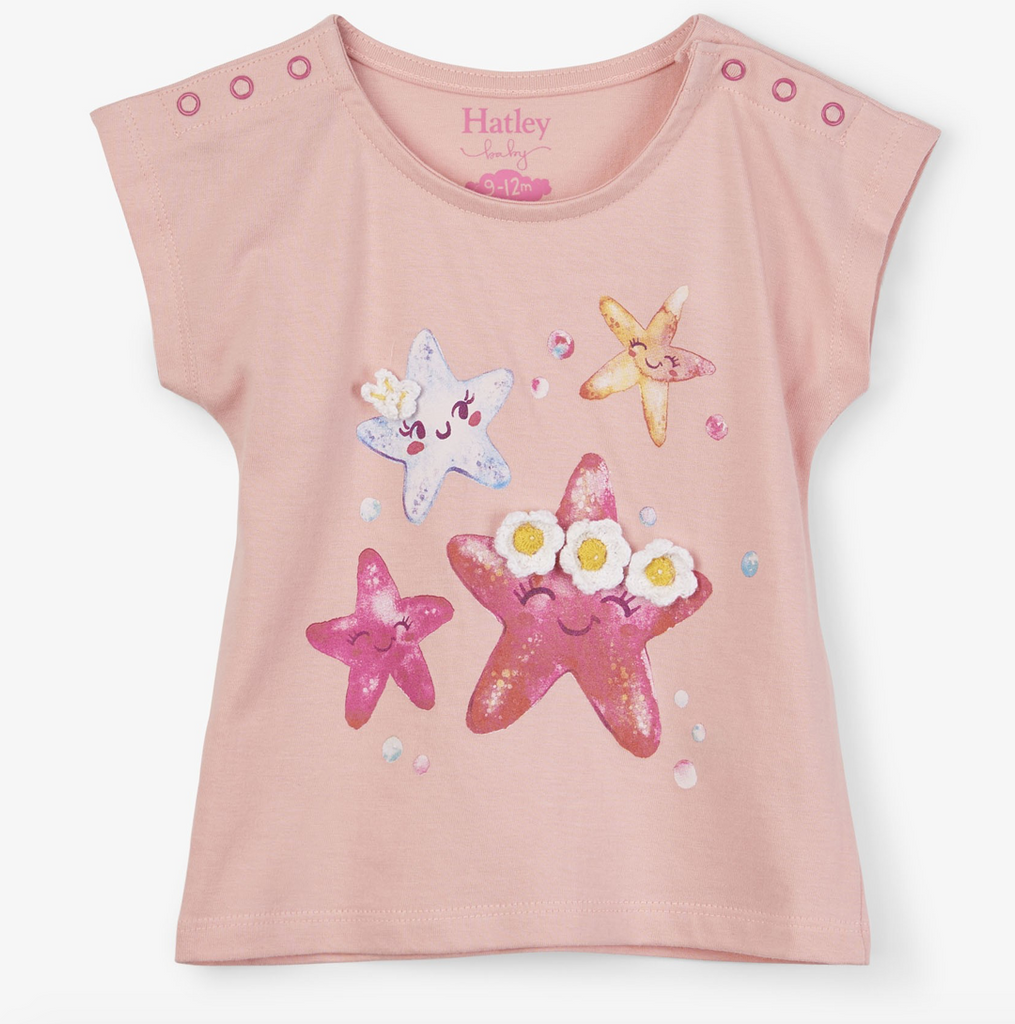 Hatley Spring/Summer Cheerful Starfish Baby Tee