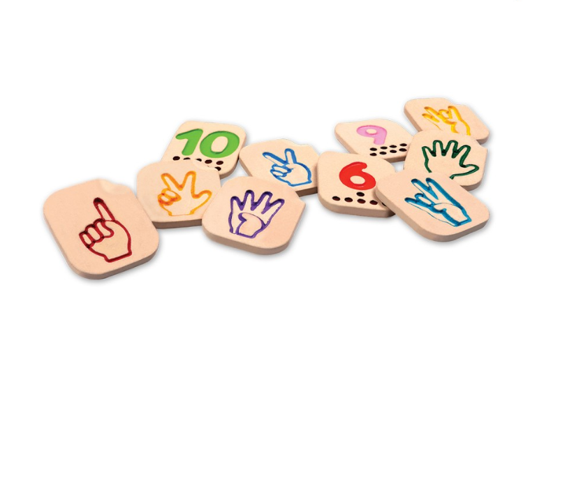 Plan Toys Hand Sign Numbers 1-10
