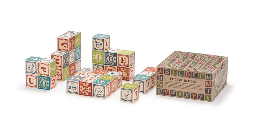 Uncle Goose Polish ABC Blocks