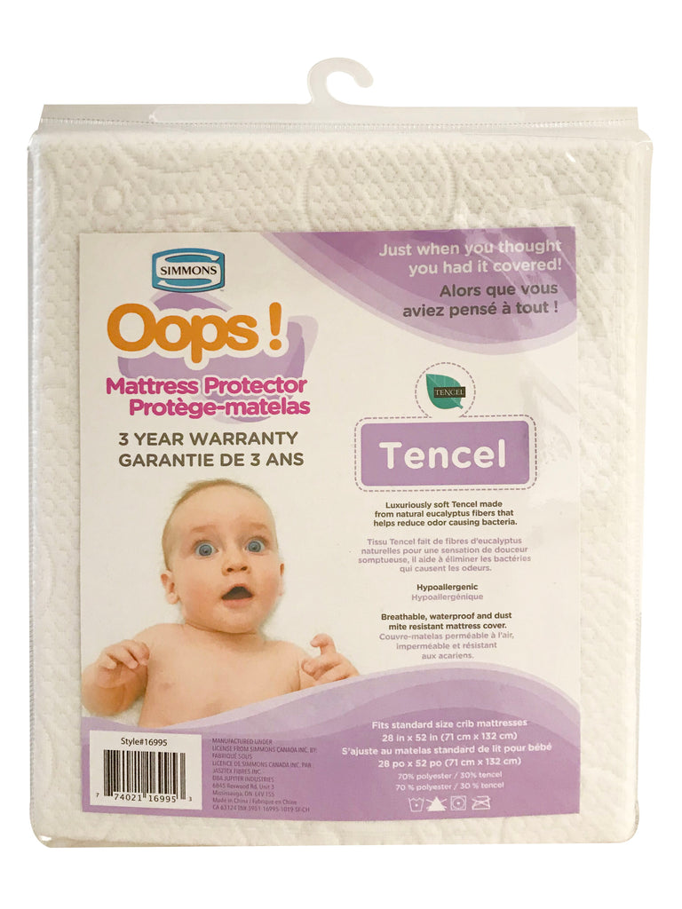 Simmons Oops! Mattress Protector Tencel