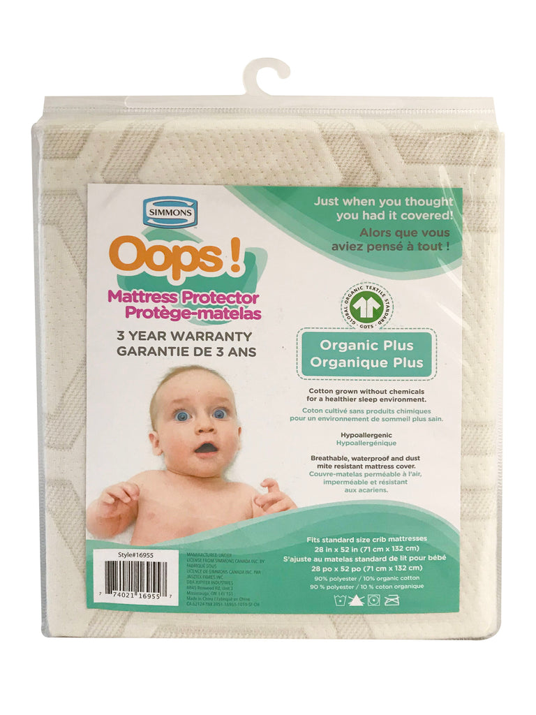 Simmons Oops! Mattress Protector Organic Plus