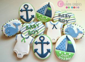 Custom Ahoy! It's a Boy from Custom Cookies by Jill