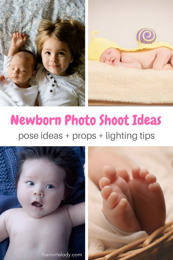 Easy DIY newborn baby photography ideas to set up your own newborn photo shoot from theinvitelady.com