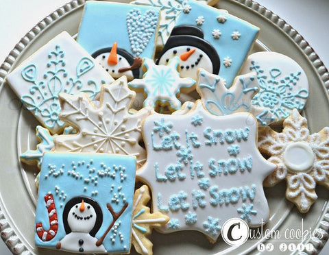 Wow Your Guests With A Unique Spin On The Baby Shower Desert Cookies That Are Tailor Made To Match Winter Theme