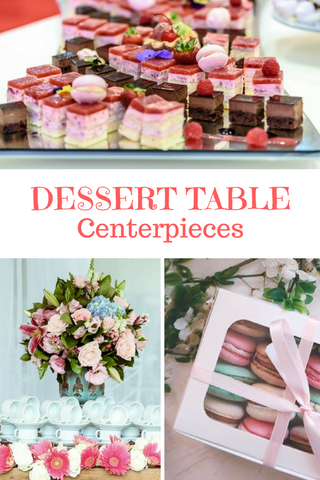 Baby Shower Dessert Table Centerpieces for a girl, boy or gender neutral party via theinvitelady.com