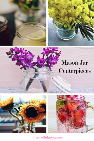 Decorate a baby shower with mason jars for a girl, boy or gender neutral party via theinvitelady.com