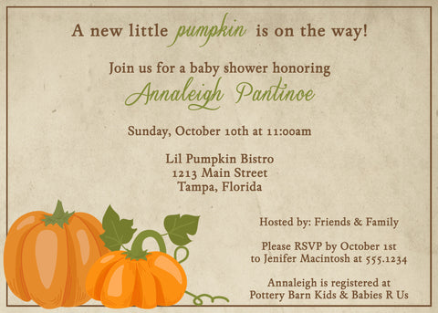 Autumn Themed Baby Shower Invitations | 8 Adorable Fall Baby Shower Ideas The Invite Lady