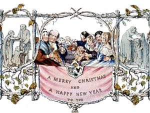 The first Christmas Card, sent by Sir Henry Cole