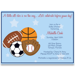 All Star, Baby Shower Invitation