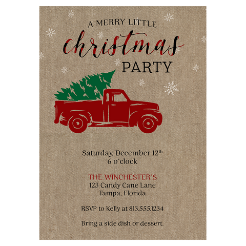 A Merry Little Christmas Party Invitation
