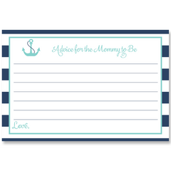 Anchor Baby, Navy and Aqua, Baby Shower Invitation