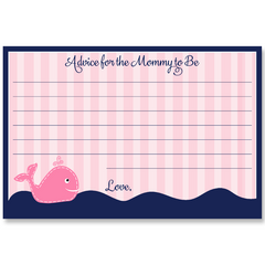 Anchors Away Pink Whale Baby Shower Invitation