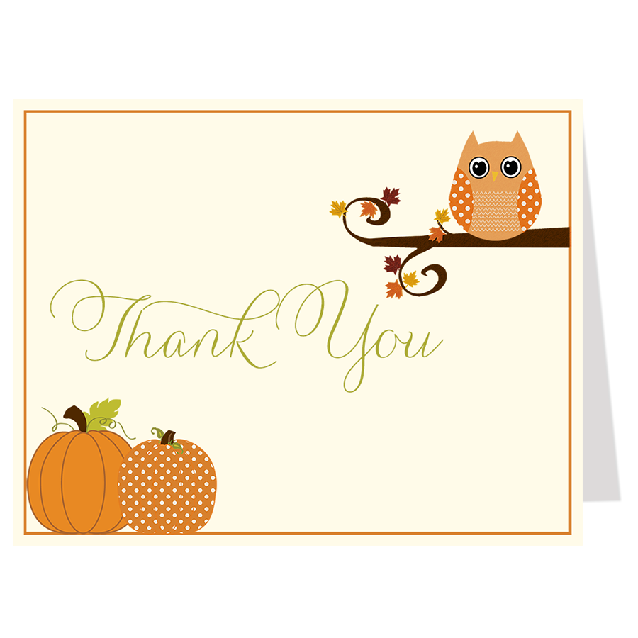 Autumn is a Hoot Thank You Card