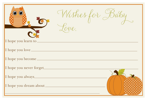 Autumn is a Hoot Wishes Card