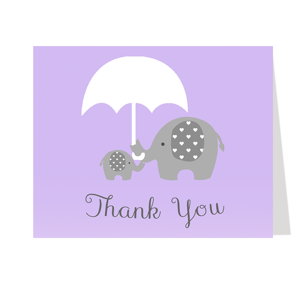 Little Peanut Purple Thank You Card