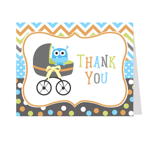Buggy Monster Thank You Card