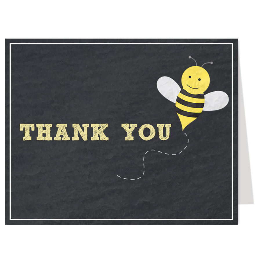 Chalkboard Babee Thank You Card