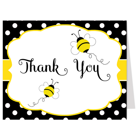 Babee on the Way Polka Dot Thank You Card