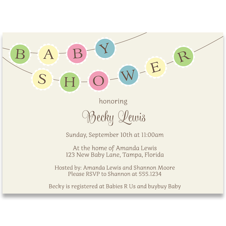 Baby Bunting Baby Shower Invitation