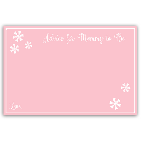 Baby Its Cold Outside Pink Advice Card