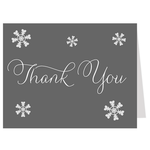 Baby It's Cold Outside White Thank You Card