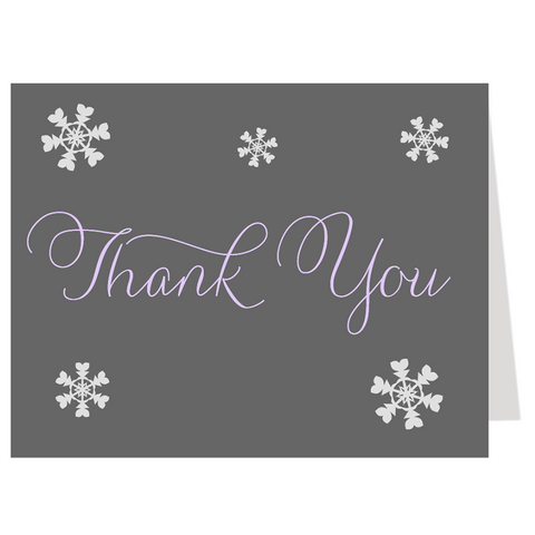 Baby It's Cold Outside Purple Thank You Card