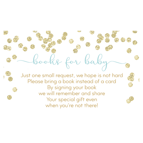 A Brunch for Baby Blue and Gold Bring a Book Insert