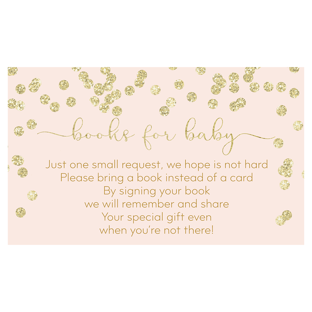 A Brunch for Baby Pink and Gold Bring a Book Insert