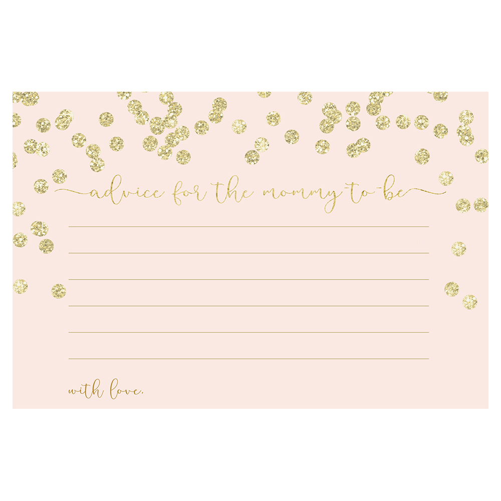 A Brunch for Baby Pink and Gold Advice Card