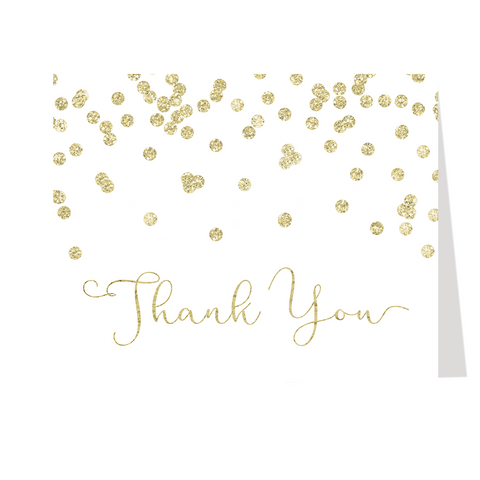 A Brunch for Baby Gold Thank You Card