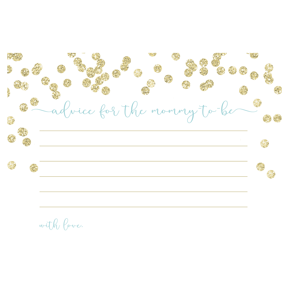A Brunch for Baby Blue and Gold Advice Card