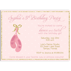 Ballet Birthday Party Invitation