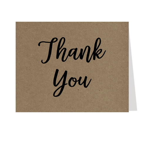Kraft Bridal Shower Thank You Card