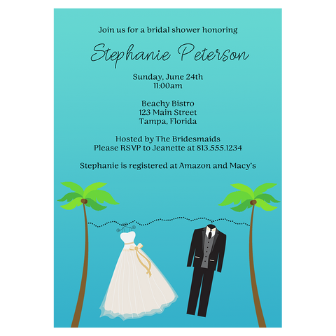 Beachy Clothes Bridal Shower Invitation