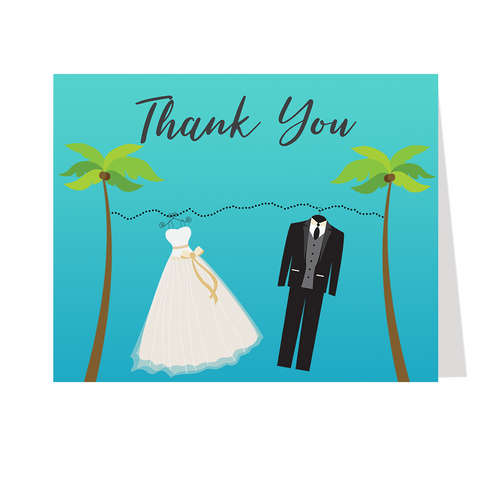 Beachy Clothes Thank You Card