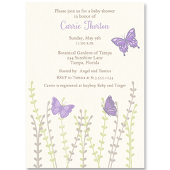 Beautiful Butterflies Baby Shower Invitation