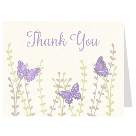 Beautiful Butterflies Thank You Card