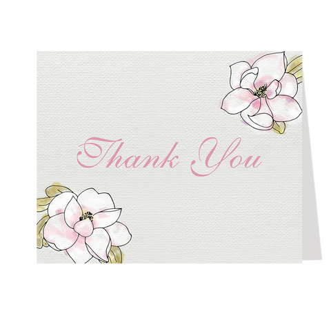 Blooming Magnolias Thank You Card