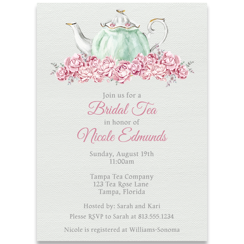 Bridal Tea Invitation