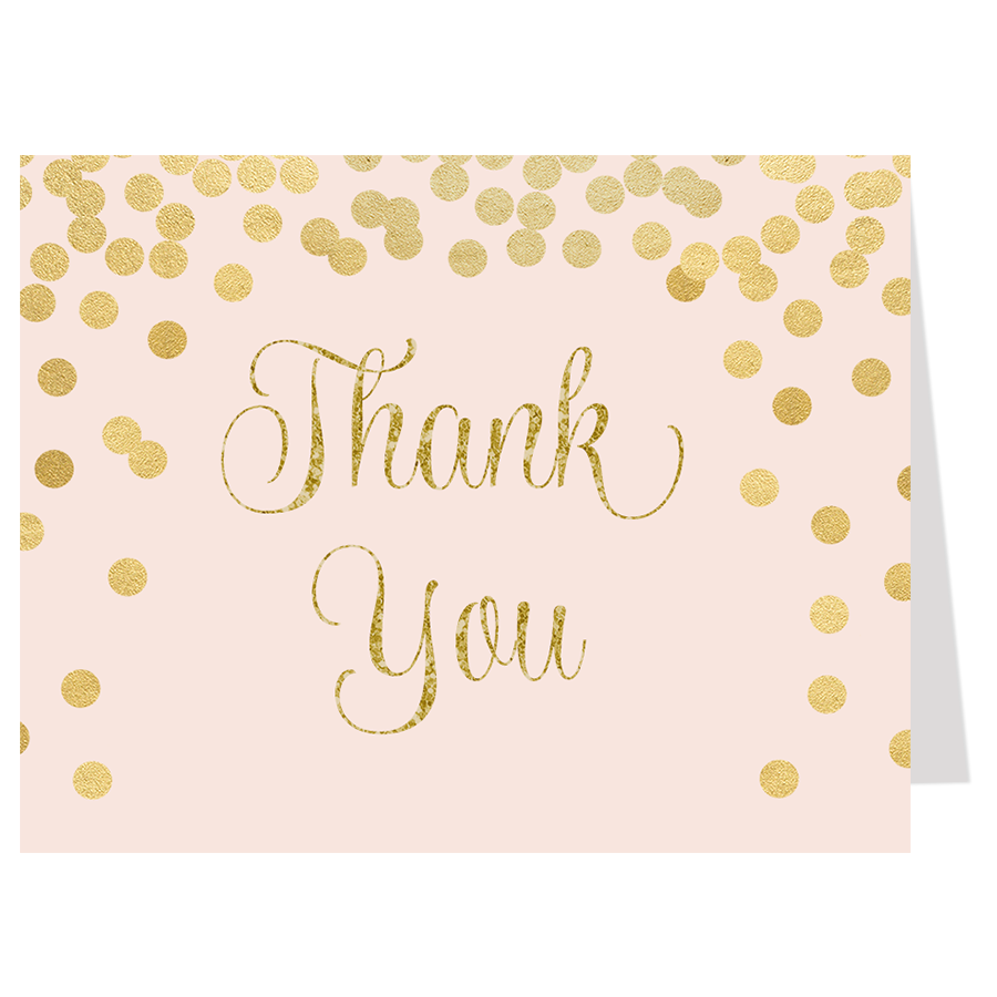 bridal shower thank you cards the invite lady