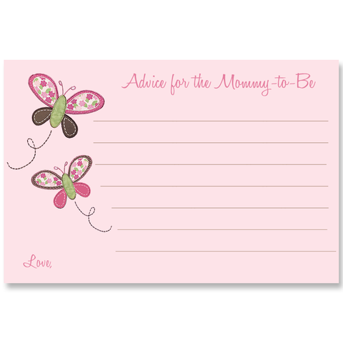 Butterfly Kisses, Pink, Advice Card