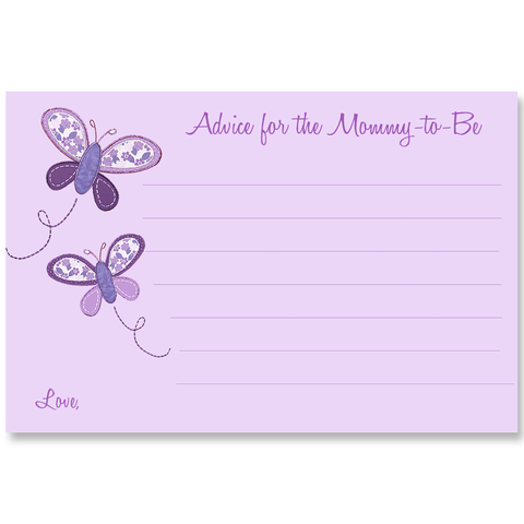 Butterfly Kisses, Purple, Advice Card