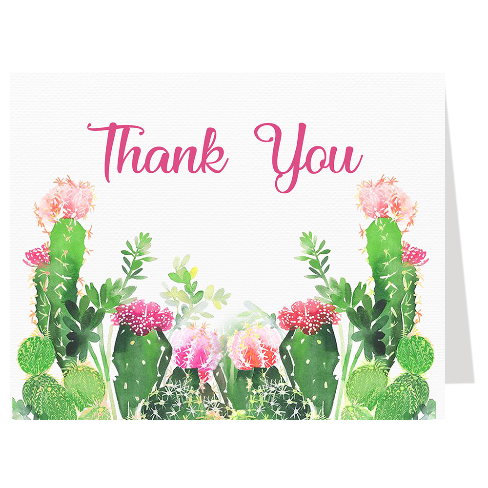 Cactus Bridal Shower Thank You Card