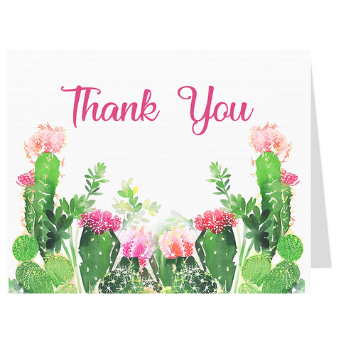 Cactus Baby Shower Thank You Card