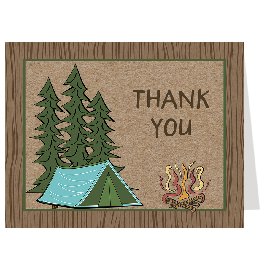 Camping Birthday Thank You Card