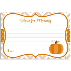 Little Chevron Pumpkin Baby Shower Invitation