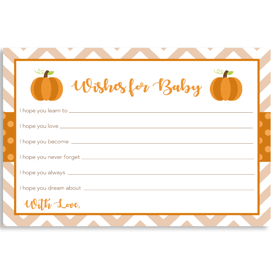 Little Chevron Pumpkin Wishes Card